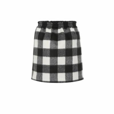 ヌメロ ヴェントゥーノ N21 レディース ミニスカート スカート Checked wool-blend miniskirt Quadro Bianco Nero