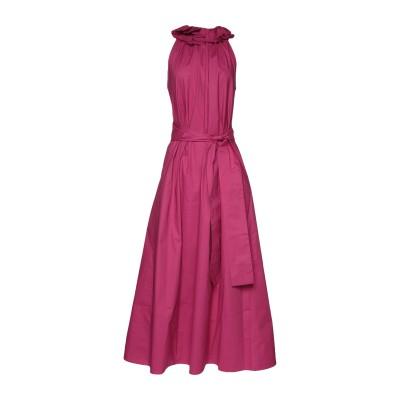 ブライアン デールズ BRIAN DALES ロングワンピース&ドレス フューシャ 40 コットン 97% / ポリウレタン 3% ロングワンピース