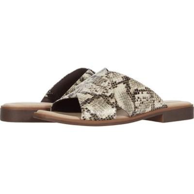 クラークス Clarks レディース サンダル・ミュール シューズ・靴 Declan Ivy Taupe Snake Synthetic