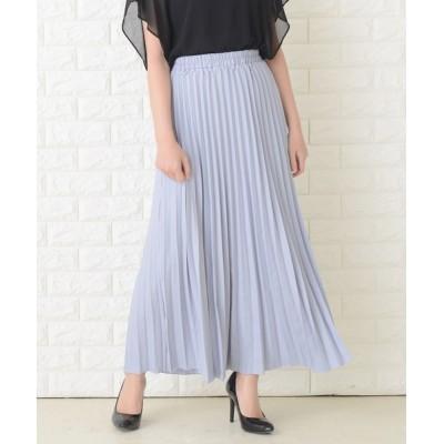 Lace Ladies / プリーツロングフレアスカート WOMEN スカート > スカート