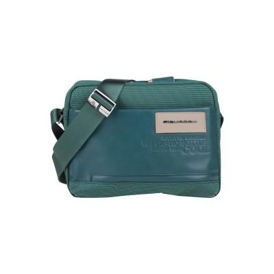 PIQUADRO メッセンジャーバッグ グリーン 紡績繊維 / 牛革 メッセンジャーバッグ