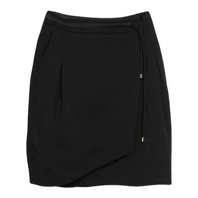 リュー ジョー LIU •JO ひざ丈スカート ブラック 42 レーヨン 97% / ポリウレタン 3% / ナイロン / ウール ひざ丈スカート