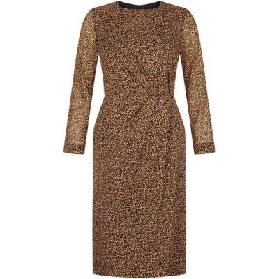 ホッブス Hobbs レディース ワンピース ワンピース・ドレス Silk Trina Dress Chocolate Multi