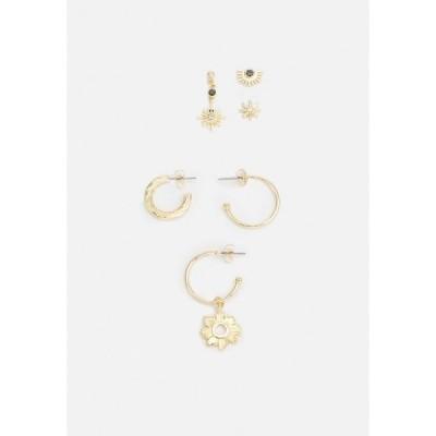 ピーシーズ ピアス&イヤリング レディース アクセサリー PCZOBIA SOLO EARRINGS 3 PACK - Earrings - gold-coloured/multi