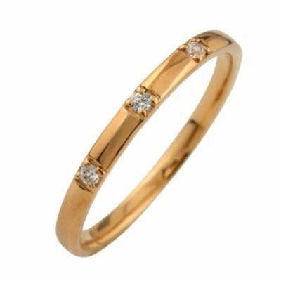 スリーストーン ダイヤリング トリロジー K10 指輪 10金 ピンキーリング ダイヤモンドリング 0.03ct 究極diaring