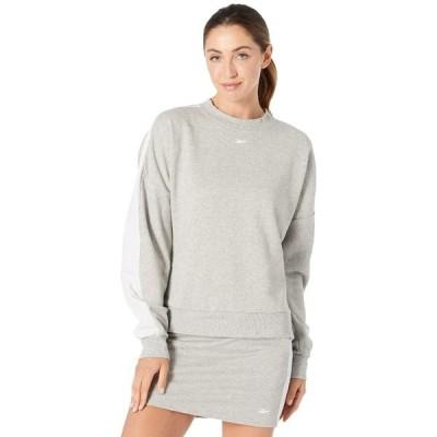 リーボック パーカー・スウェットシャツ アウター レディース Training Essentials Sweatshirt Medium Grey Heather