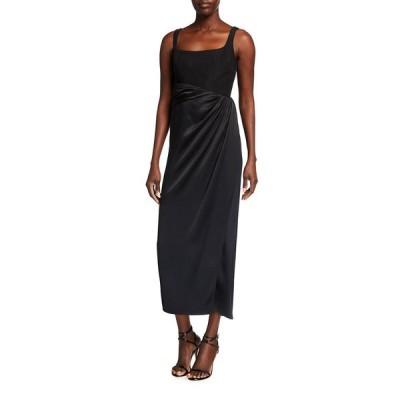 ブランドン・マクスウェル レディース ワンピース トップス Bustier Satin Skirt Silk Dress