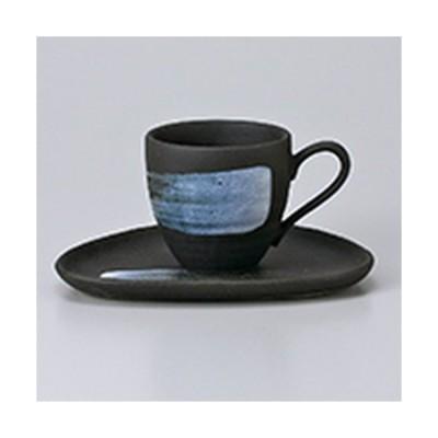 碗皿 洋食器 / 黒ハケメコーヒーC/S 寸法:碗 7 x 6.7cm ・ 160cc・皿 15.5 x 12.5cm