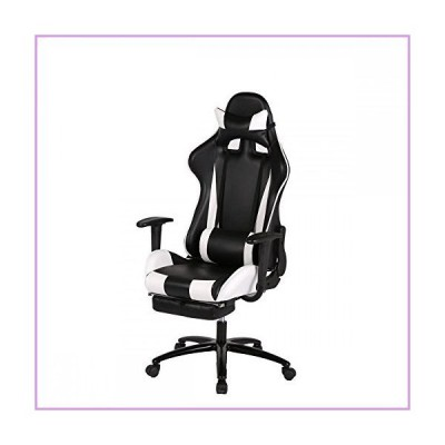 House Deals Video Game Chair Gaming Chairs Laptop Computers Computer Racing Cool Kids Adult Laptops Office Networking White High-Back Furnit