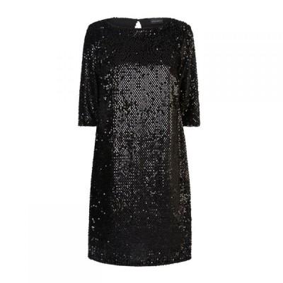 ジュームズ レイクランド James Lakeland レディース ワンピース ワンピース・ドレス Velour Sequin Dress Black