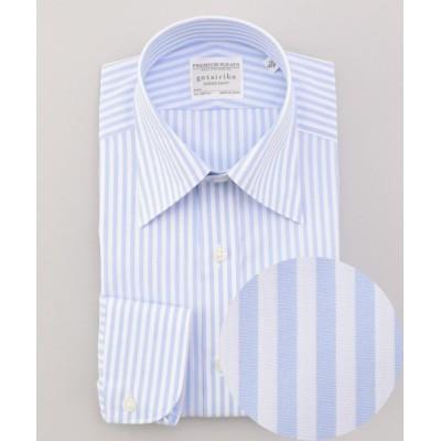 【五大陸】 PREMIUMPLEATS ドレスシャツ / レギュラーカラー メンズ サックスブルー系1 15(38-83) gotairiku