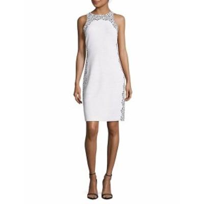 セント ジョン レディース ワンピース Printed Sleeveless Wool-Blend Dress