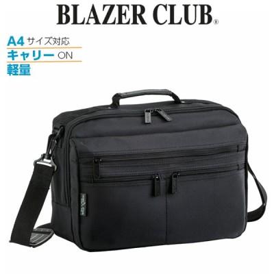 ショルダーバッグ メンズ 斜めがけ 軽量 斜め掛け 旅行 男性 ブラック 黒 無地 BLAZER CLUB ブレザークラブ MF ショルダーバッグ ヨコ型 33577