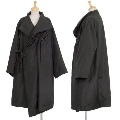 トリコ コムデギャルソンtricot COMME des GARCONS モチーフデザイン中綿コート 黒M位 【レディース】