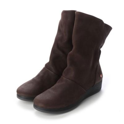 ヨーロッパコンフォートシューズ EU Comfort Shoes Softinos ミドルブーツ(900.417) (ダークブラウン)