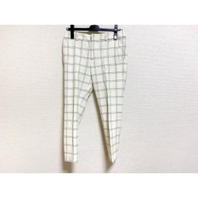 ノーブル NOBLE パンツ サイズ36 S レディース 白×グレー チェック柄【中古】20200115