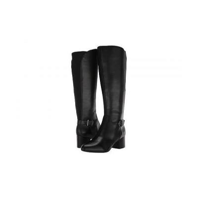 Anne Klein アン クライン レディース 女性用 シューズ 靴 ブーツ ロングブーツ Honesty Wide Calf - Black Leather