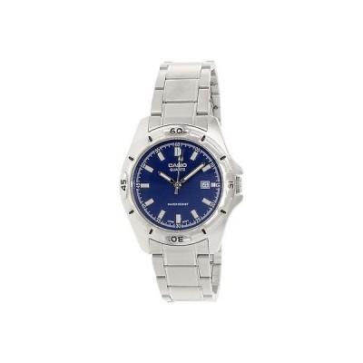 カシオ 腕時計  Casio MTP1244D-2A メンズ シルバー ステンレス-スチール クォーツ 腕時計 ブルー ダイヤル