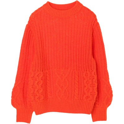 【SUPERTHANKS】CABLE KNIT CREW