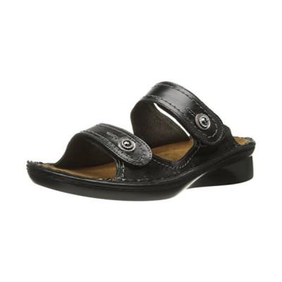 Naot レディース Sitar Wedge Sandal, ブラック Madras レザー, 36 EU/5-5.5 M US(海外取寄せ品)
