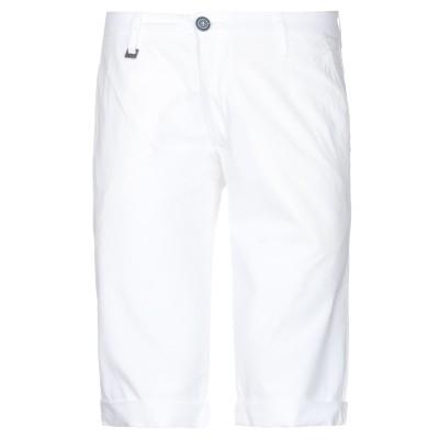 LIU •JO MAN バミューダパンツ ホワイト 46 コットン 98% / ポリウレタン 2% バミューダパンツ
