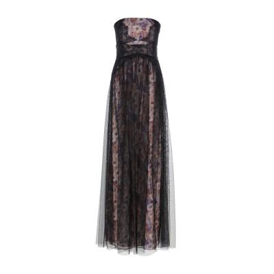 MIKAEL AGHAL ロングワンピース&ドレス ブラック 2 ポリエステル 100% ロングワンピース&ドレス