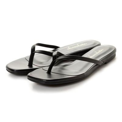 シューファンタジー Shoe Fantasy フラットトングサンダル (black)