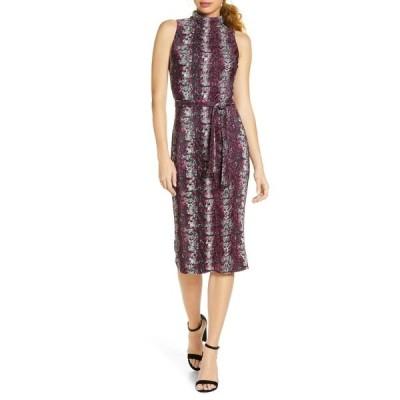ライチェルレイチェルロイ レディース ワンピース トップス Kiki Snake Print Sleeveless Dress PASSION PINK