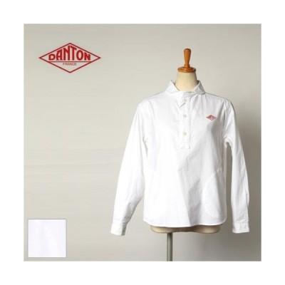 レディース/DANTON/ダントン/ラウンドカラープルオーバーシャツ/丸襟/オックス素材/品番:JD-3564YOX