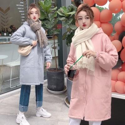 レディース ジャケット  ロングコート フード付き 防寒ジャケット 春 美シルエット 厚さを増す