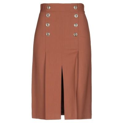 ELISABETTA FRANCHI ひざ丈スカート ブラウン 42 レーヨン 96% / ポリウレタン 4% ひざ丈スカート