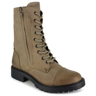 ジジソーホー ブーツ&レインブーツ シューズ レディース Women's Rosaline Mid-Calf Laceup Leather Boots Stone Leather
