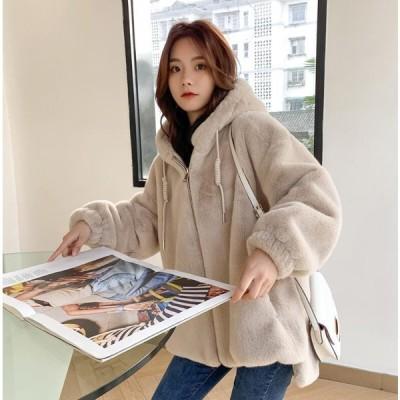 毛皮コート上質ショートジャケットおしゃれ上着ジャケットアウター暖かい冬物レディース防寒就活女性オフィスOL通勤フェイクファー