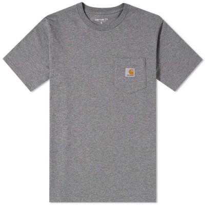 カーハート Carhartt WIP メンズ Tシャツ ポケット トップス Pocket Tee Dark Grey Heather