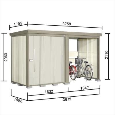 物置 屋外 おしゃれ タクボ物置 TP/ストックマンプラスアルファ TP-37R15 一般型 標準屋根 『追加金額で工事可能』 ムーンホワイト
