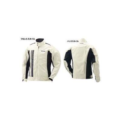 カワサキ純正/春夏モデル クラシックエアインテーク・ライダースジャケット(ナチュラル/Mサイズ)_Kawasaki
