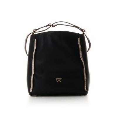 サマンサタバサ スタッズ2wayソフトバッグ 小【フレンチカラーVer.】 ブラック