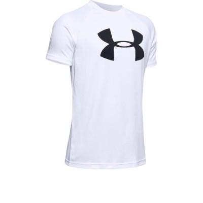 アンダーアーマー(UNDER ARMOUR)ボーイズ テック ビッグロゴ 半袖Tシャツ 1351850 WHT/BLK AT オンライン価格