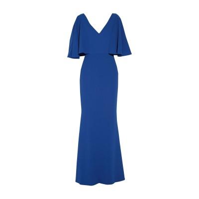BADGLEY MISCHKA ロングワンピース&ドレス ブライトブルー 2 ポリエステル 100% ロングワンピース&ドレス