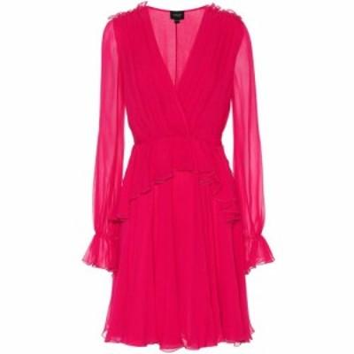 ジャンバティスタ バリ Giambattista Valli レディース ワンピース ワンピース・ドレス Ruffled silk dress Fuxia