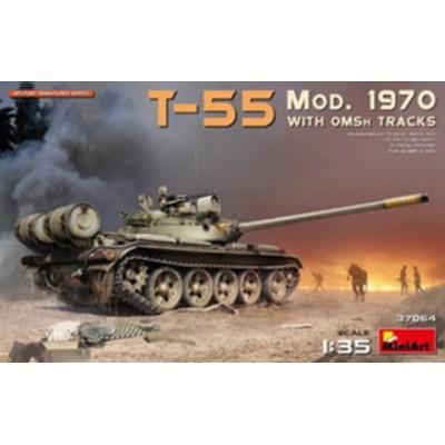 ミニアート 1/35 T-55 Mod.1970w/OMSh Tracks【MA37064】 プラモデル MA37064 T-55Mod.1970 OMSh Tracks 【返品種別B】