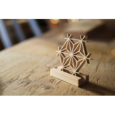 [075003]~大工が創る組子細工~麻の葉コースター 2個セット