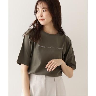 NATURAL BEAUTY BASIC / オーガニックコットン レタリングロゴT WOMEN トップス > Tシャツ/カットソー