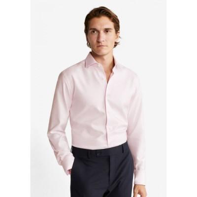 マンゴー Mango Man メンズ シャツ トップス Slim Fit Structured Tailored Shirt Light Pastel Pink