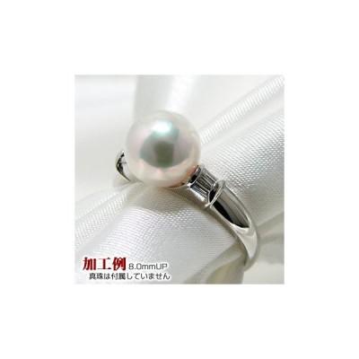 【受注発注品】テーパーバゲットダイヤ リング枠(指輪金具) Pt900 プラチナ 0.07ct [n5]