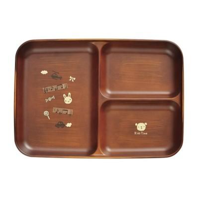 食器 おしゃれ  ( Kids Time 仕切皿 )  メール便対応 家庭用 電子レンジ対応 家庭用 食洗機対応 スタッキング可能 おしゃれでかわいいイラスト付