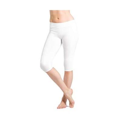 Fishers Finery Women's 16 Fitness Workout Running Dance Yoga Capri B Wht XL