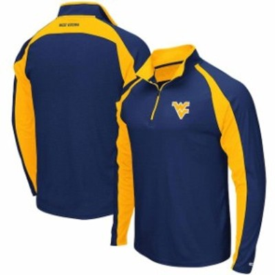 Colosseum コロセウム スポーツ用品  Colosseum West Virginia Mountaineers Heathered Navy The J. Peterman Quarter-Zip Pullover Jack