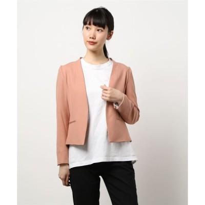 ジャケット テーラードジャケット 【セットアップ可能】ウォームツイルコンパクトジャケット