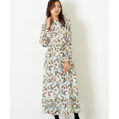 【Green Parks(グリーンパークス)】・花柄ギャザーワンピース (ワンピース)Dress